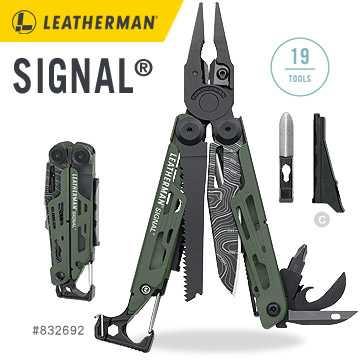 【錸特光電】Leatherman SIGNAL Topo綠 工具鉗 露營 登山 縱走 有磨刀器  #832692 業成公司貨 保固25年
