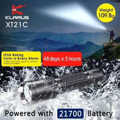 KLARUS XT21C 戰術手電筒 3200流明 尾按 爆閃 USB-C直充 攻擊頭