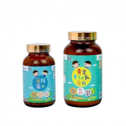 Panda baby雙重防護組合~ 黃金牛初乳蛋白+藻精蛋白粉 鑫耀生技