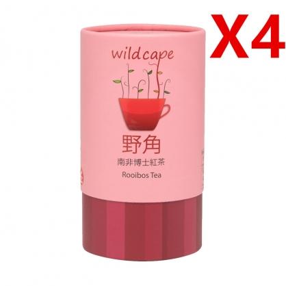 四罐特價組合-南非國寶Wild Cape Rooibos 野角南非博士(紅茶) 【40茶包/罐】無咖啡因、孕婦哺乳可用