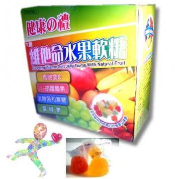 康馨-【六鵬盒裝公司貨】維他命水果軟糖600g