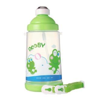 DOOBY大眼蛙 彈跳吸管水壺(PP) 650cc-綠
