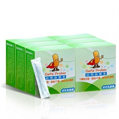 (六盒特價組) 家酪優 必飛益菌多 (30包/盒) (共180包)【155811151】