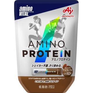 【日本味之素 原裝進口】amino VITAL專業級胺基酸乳清蛋白  10pcs | 巧克力口味
