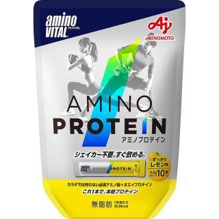 【日本味之素 原裝進口】amino VITAL專業級胺基酸乳清蛋白  10pcs | 檸檬口味