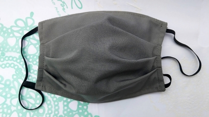 【2004105】手工布口罩 (灰色)成人耳掛式 上開式可自行放入濾材 台灣工廠自產自銷