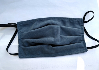 【2004162】手工布口罩 (牛仔藍)1入 成人耳掛式 上開式可自行放入濾材 台灣工廠自產自銷