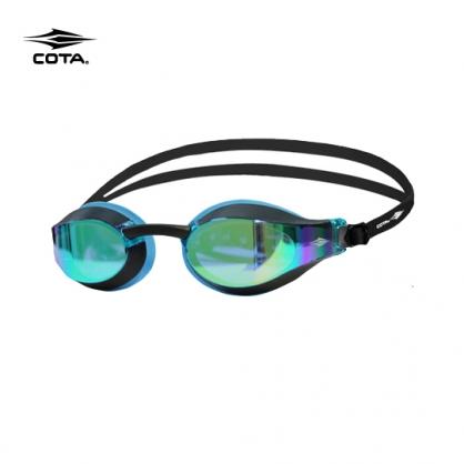 競賽泳鏡-高階型 RACING FASTER High-end 鍍銀天藍