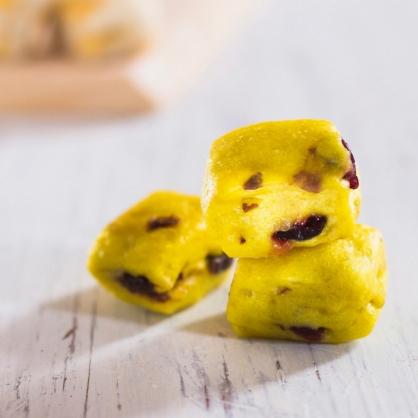 MINI寶寶饅頭-薑薑好(紅薑黃)-純素 /天然酵母/無添加/不脹氣/''不胃酸