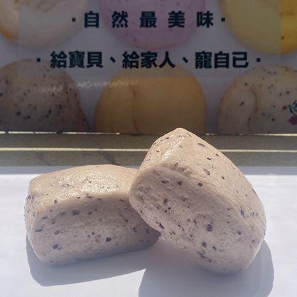 方饅頭-巡田水(紫黑米)-素 /天然酵母/無添加/不脹氣/不胃酸