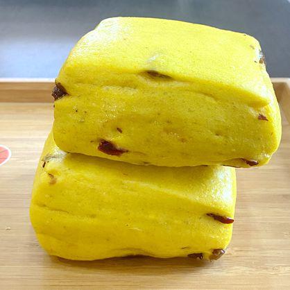 方饅頭-薑薑好(紅薑黃)-素 /天然酵母/無添加/不脹氣/不胃酸