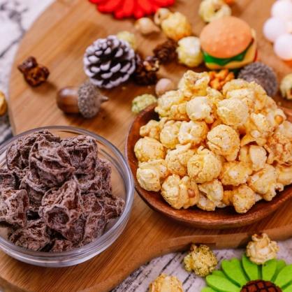 荳荳將蘑菇爆米花-獨享包-天然白梅(甜/素)-手炒/酥脆/非基改頂級蘑菇玉米粒