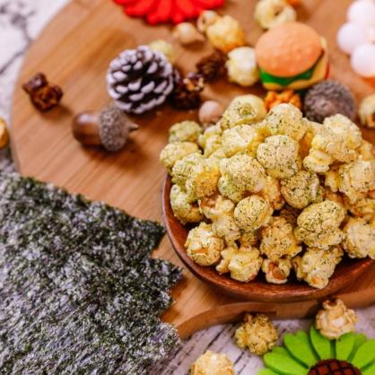 荳荳將蘑菇爆米花-獨享包-岩燒海苔(鹹/素)-手炒/酥脆/非基改頂級蘑菇玉米粒