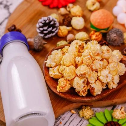 荳荳將蘑菇爆米花-獨享包-原味牛奶(甜/素)-手炒/酥脆/非基改頂級蘑菇玉米粒