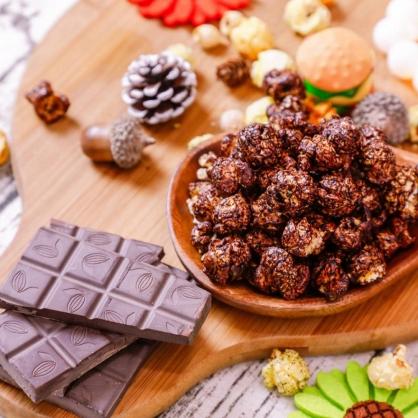 荳荳將蘑菇爆米花-獨享包-特濃巧克力(甜/素)-手炒/酥脆/非基改頂級蘑菇玉米粒