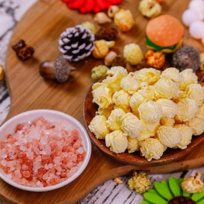 荳荳將蘑菇爆米花-獨享包-原味海鹽(鹹/素)-手炒/酥脆/非基改頂級蘑菇玉米粒