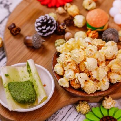 荳荳將蘑菇爆米花-獨享包-日式哇沙米(辣/素)-手炒/酥脆/非基改頂級蘑菇玉米粒