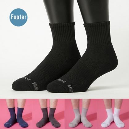 Footer T11 單色運動逆氣流氣墊襪