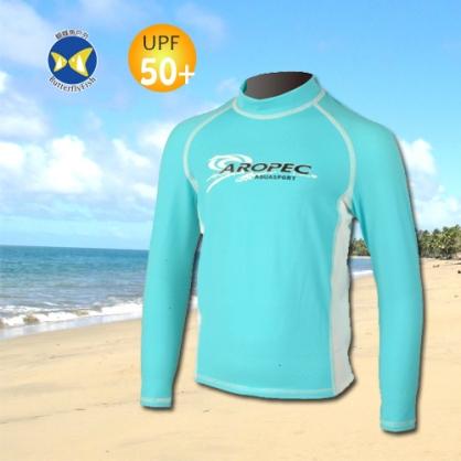 台灣製 Aropec UPF50+ 兒童長袖 水母衣 驚奇土耳其藍白 防曬衣 SS-51C