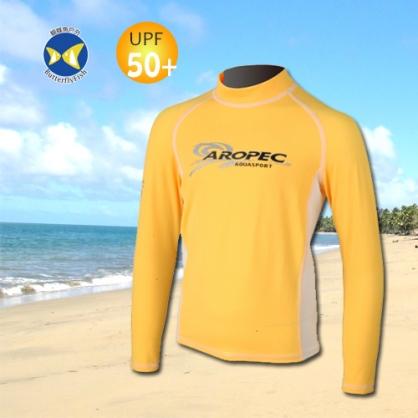 台灣製 Aropec UPF50+ 兒童長袖 水母衣 驚奇黃白 防曬衣 SS-51C