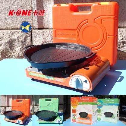 卡旺 格林伍德 超薄型 卡式爐 + 韓製煎烤盤組 GCVS1POP ,商檢標T7484051