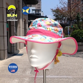[美國 Sunday Afternoons ] 兒童 抗UV 雙面 圓盤帽 L號 蜂蝶爭艷 SAS2D11395B