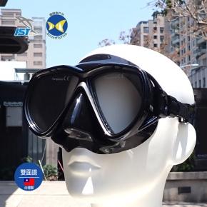 台灣製 IST M75 黑 潛水面鏡  浮潛 水肺 適用