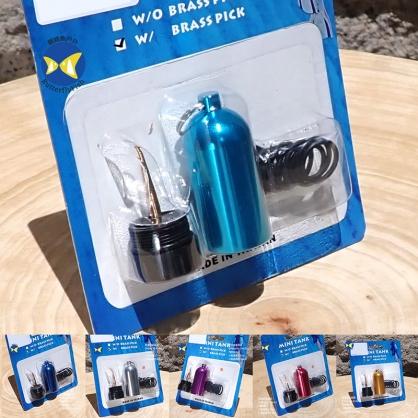 蝴蝶魚 台灣製 無Logo 小氣瓶 鑰匙圈 附美規氣瓶頭 O-Ring AS-014 x 12條