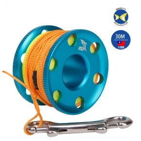 台灣製 IST REEL RL-7-N 30M 鋁合金 雙色繩 捲線器,水肺潛水適用