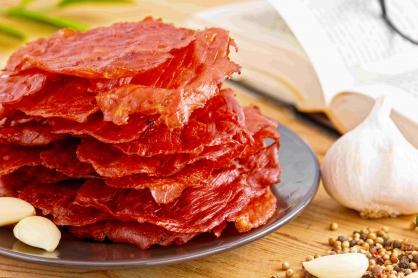 蒜味薄片肉乾