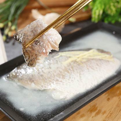 薑絲鹽焗舒肥鱸魚