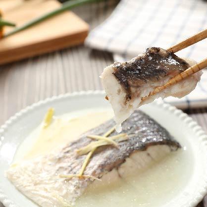 薑絲鹽焗舒肥鱸魚(小)