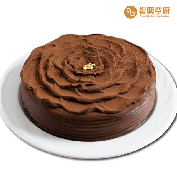 金箔黑玫瑰蛋糕 -8吋(可宅配,冷凍商品)
