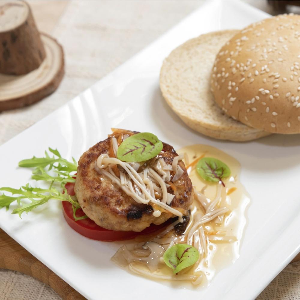 雞肉漢堡排(6入,冷凍包裝)