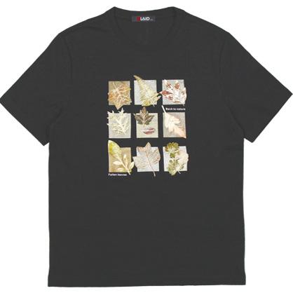 091270九宮格立體植物花卉數碼轉印工藝TEE