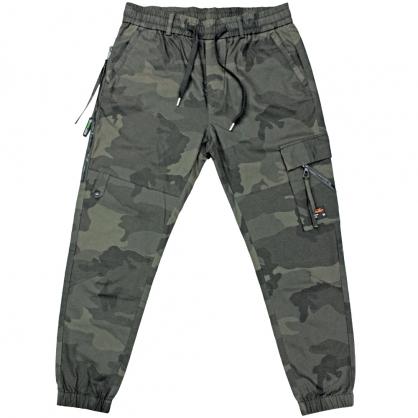 091810輕工裝彈性抽繩全軍迷彩束腳休閒褲