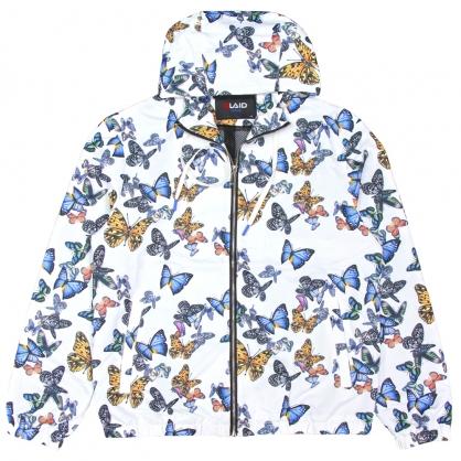 091503滿版花蝴蝶數碼印花運動風格連帽外套