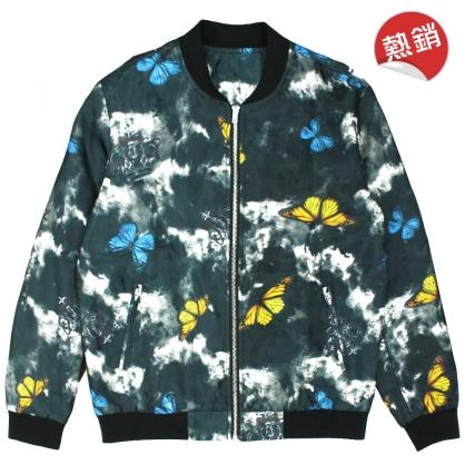 082507數碼印花雙層網紗皇冠蝴蝶風格外套
