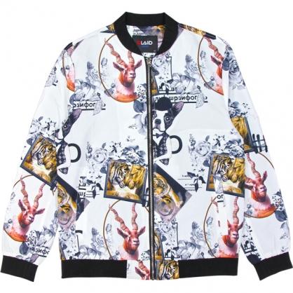 092501滿版老虎與狗數碼印花和尚領外套2.0