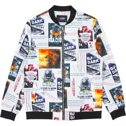 092508滿版海報拼接數碼印花和尚領外套