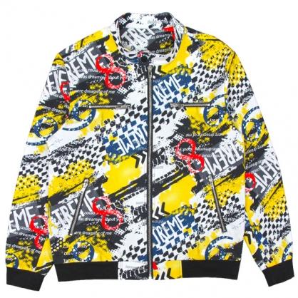 092510滿版帥氣賽車風數碼印花夾克外套