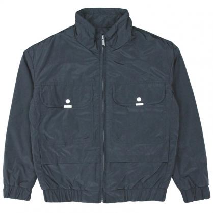 092521素色炫彩漸層字母輕工裝休閒外套-黑色