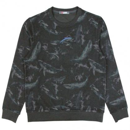 092218滿版海豚燒花工藝圓領衛衣