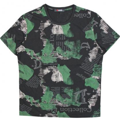 211211滿版字母塊狀印花圓領T恤-黑色