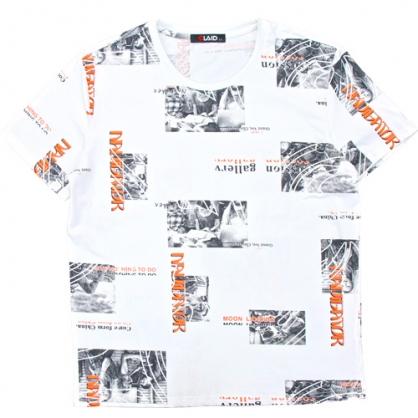 211213滿版黑白相片風數碼印花圓領T恤
