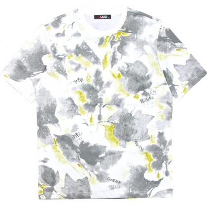 211271滿版抽象水墨花卉水槳印花工藝T恤