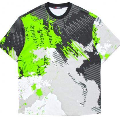 211280滿版幾何印花寬鬆棉料T恤