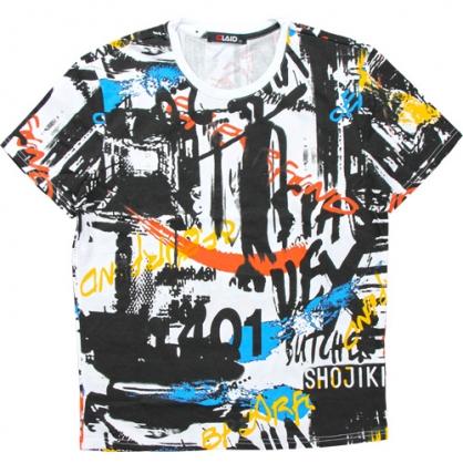 211216滿版美式彩繪塗鴉風數碼印花圓領T恤