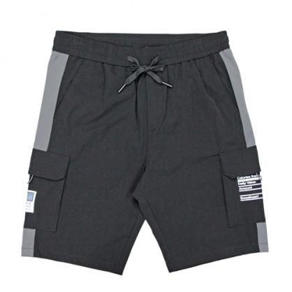 211911輕工裝大口袋彈性休閒中褲-黑色