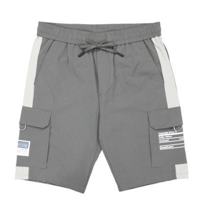 211911輕工裝大口袋彈性休閒中褲-灰色